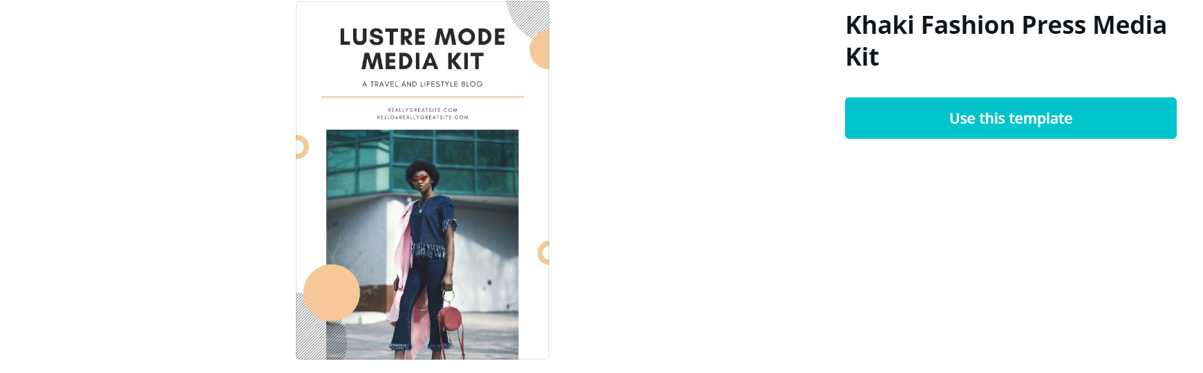 media kit canva