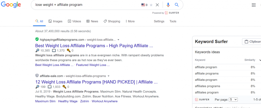 find affiliate programs in Google